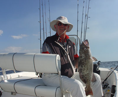 Sarde Howell with a nice inshore Gag Grouper